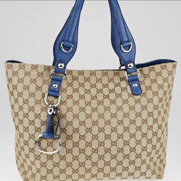 f9933a7c814d Gucci Handbags - RARE/LIMITED EDITION GUCCI Blue/Beige Tote Bag💙